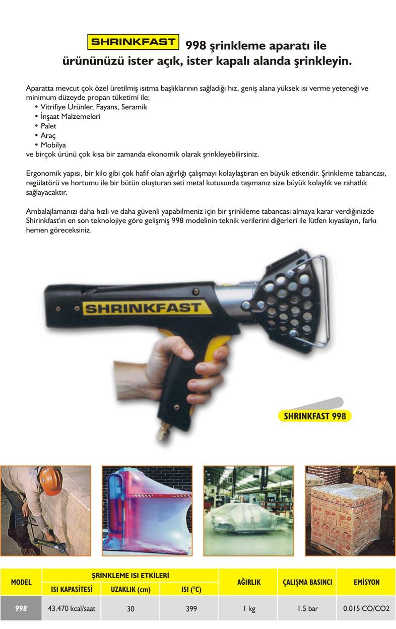 Shrinkfast 998 Srinkleme Tabancasi